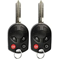KeylessOption Keyless Entry Remote Control Car Key Fob Replacement for OUCD6000022 (Pack of 2)