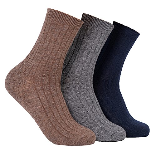 3 Pairs Men&Women Winter Athletic Merino Wool Socks - Thermal Dress Socks Suit for Hiking