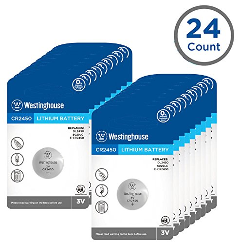 Button Cr2450 - Westinghouse CR2450 Lithium Button Cell, Button Batteries, Coin Cells, Remote Battery, Remote Battery Cells (24 Counts)