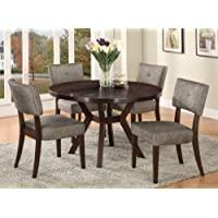 Acme Furniture Top Dining Table Set Espresso Finish Drake Collection 4 Chairs