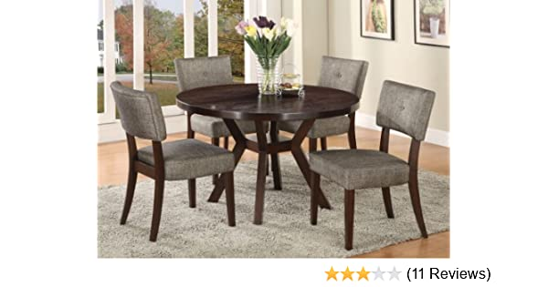 Amazon.com   Acme Furniture Top Dining Table Set Espresso Finish Drake  Collection 4 Chairs   Table U0026 Chair Sets
