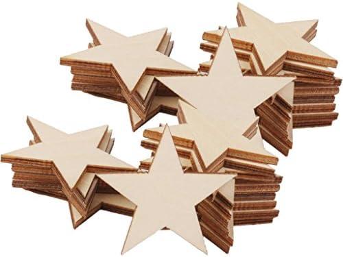 木片 星 厚い 星型 木製 装飾 木材チップ DIY 工芸 クラフト カード作り サイン作り