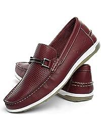 Sapato mocassim Masculino Confort Mr Light Furadinho Italia