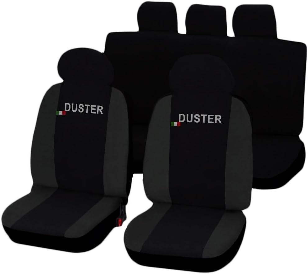 Lupex Shop Dacia Duster Zweifarbige Sitzbezüge Schwarz Dunkelgrau Auto