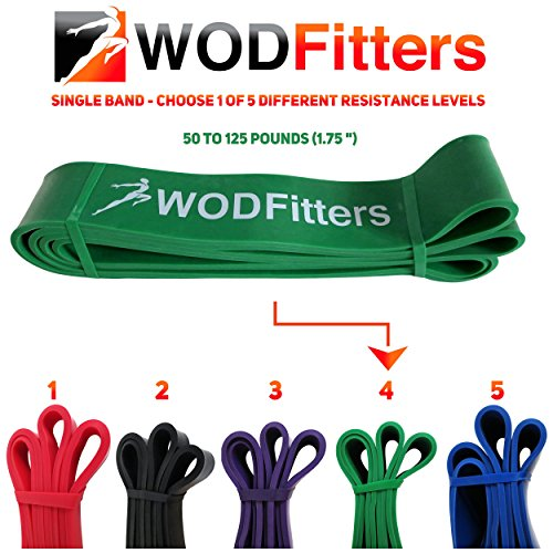 WODFitters Resistance bands Green - Single Band Assisted Pull-up Resistance Band Cross Fitness Training Power-lifting by WODFitters (Image #4)