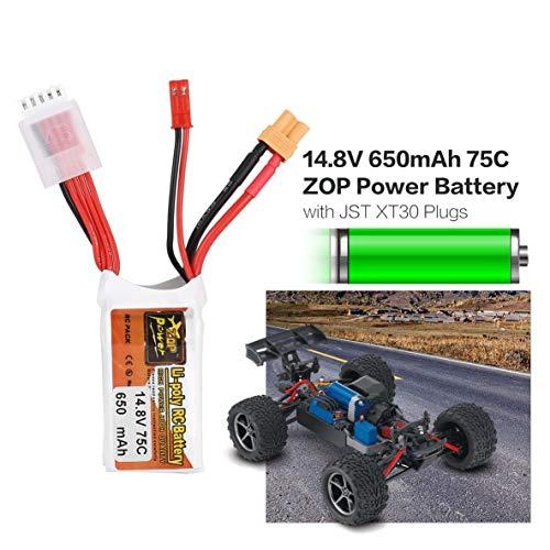 Moliies ZOP Puissance Puissance Puissance 14.8V 650mAh 75C 4S 1P Lipo Batterie JST XT30 Plug Rechargeable pour RC Racing Drone Hélicoptère Voiture Modèle De Bateau ceb497