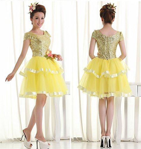 Gelb Drasawee Linie Kleid Damen A rIYqfIH