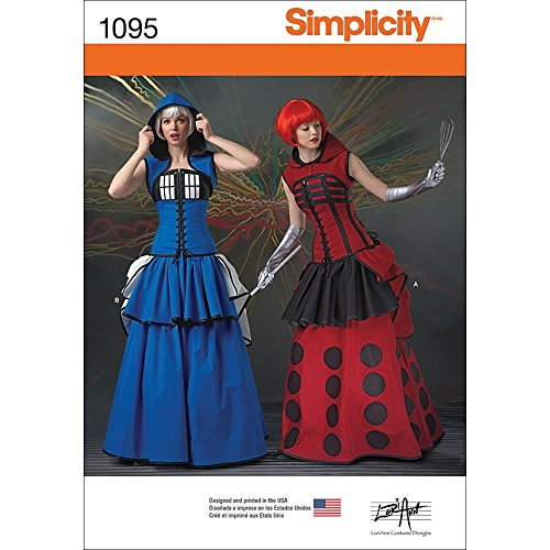 SIMPLICITY 1095 Misses' Costumes Sewing Template, Size R5 (Dragon Scales Paper)