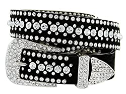 Men's Shiny 2 Color Zirconia Metal Belt