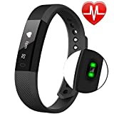 Fitness Tracker - Waterproof Activity Tracker with Heart Rate Monitor Bluetooth Smart Watch Wireless Smart Bracelet Sleep Monitor Pedometer Wristband for Android and iOS Smartphone