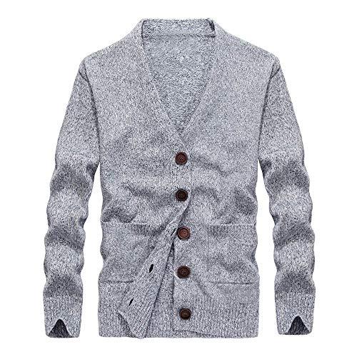 AANB Men's Long Sleeve Autumn Winter Button Casual Sweatshirt Top Blouse (Plaid Motorcycle Jersey)