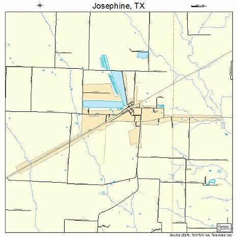 Amazon.com: Large Street & Road Map of Josephine, Texas TX ...