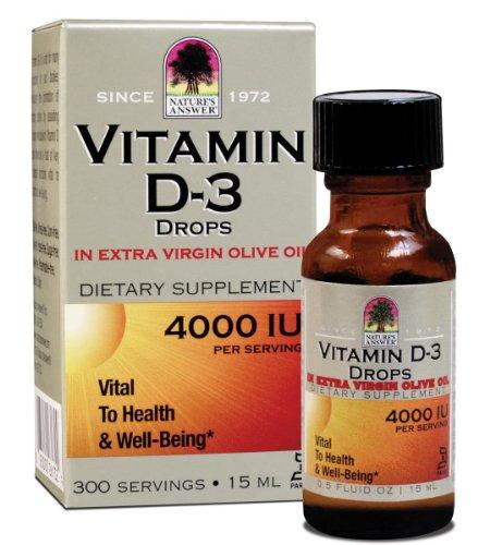 Nature Réponse de la vitamine D-3 gouttes 4000 UI, 0,5 onces