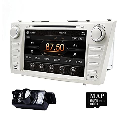 Car Stereo DVD Fit For Toyota Camry 2007 2008 2009 2010 2011 8 Inch HD Capacitive Touch Screen GPS Navigation 3G Bluetooth Backup (2011 Camry Backup Camera)