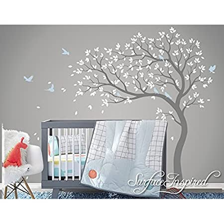 Exceptional Beautiful Removable Vinyl Blossom Tree Wall Stickers With Birds Tree Wall  Decal Nursery Large Pink Tree