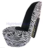 Zebra and Black High Heel Shoe Chair