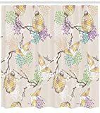 Ambesonne Lantern Shower Curtain, Colorful Origami