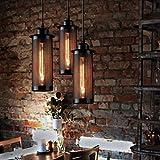 Pendant lights Industrial Loft Hanging Lamp Black Iron Edison Bulb Pendant Lighting