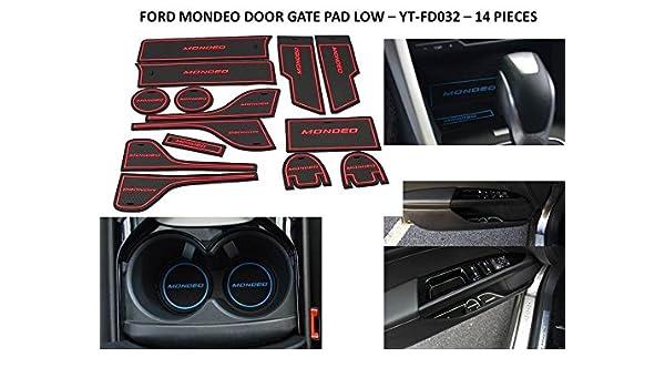 Amazon.es: OMTEC salpicadero interior Mat Pad juego de tapacubos para Ford Mondeo- rojo disponible