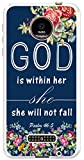Moto Z Force Droid Case MUQR Motorola Z Force / Motorola Z Force Droid Cover - Protective Christian Bible Quotes God Is Within Her She Will Not Fall Psalm:46:5