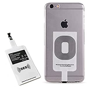 Smart Electronic Solutions Iphone Qi Wireless Charger, Fast Speed Charging Receiver for iPhone 7 / 7 Plus / 6 / 6s / 6 Plus / 5 / 5s / 5c / 5SE Improved Adapter Coil Patch Module Ultra Slim 0.4 MM