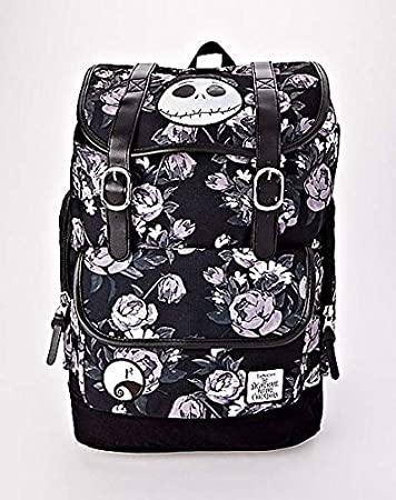 the nightmare before christmas floral backpack back to school jack skellington bookbag - The Nightmare Before Christmas Backpack