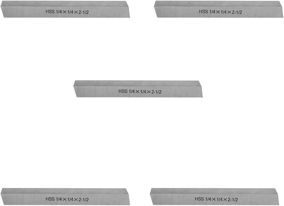 2pcs 6 x 6 x 200mm Square Blades High Speed Steel Bar Handy Lathe HSS Tool Bit