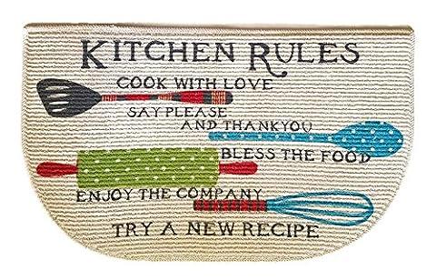 Kitchen Rugs Mat Non Skid D Shaped Decor 18 x 30 Inches - Slice Kitchen Rug