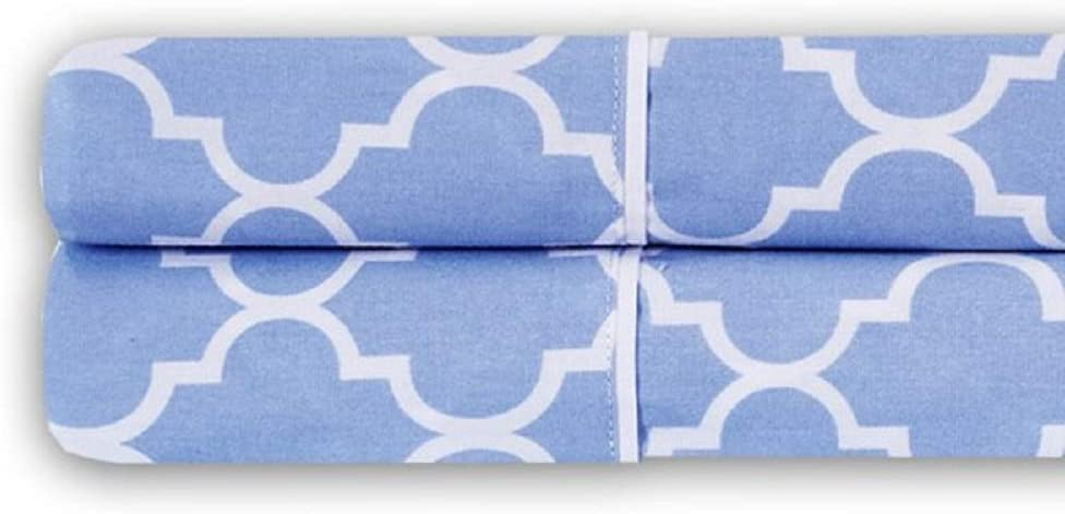 King Pair of Pillowcases Printed Breathable Meridian 100/% Cotton 250TC Percale