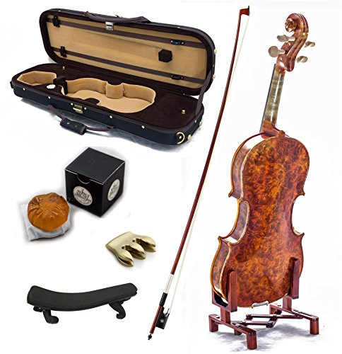sky-mastero-sound-4-4-full-size-new-vn431-bird-eye-maple-violin-kit-w-case-bow-rosin-mute