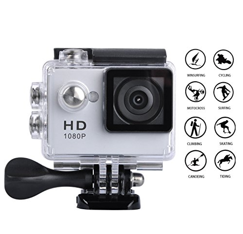 120 Fps Dvr (Goldwangwang 1080P Full HD 2.0 inch LCD Screen Waterproof Sports Action Camera Cam DV 5MP DVR Helmet Camera Sports DV Camcorder,  Silver)