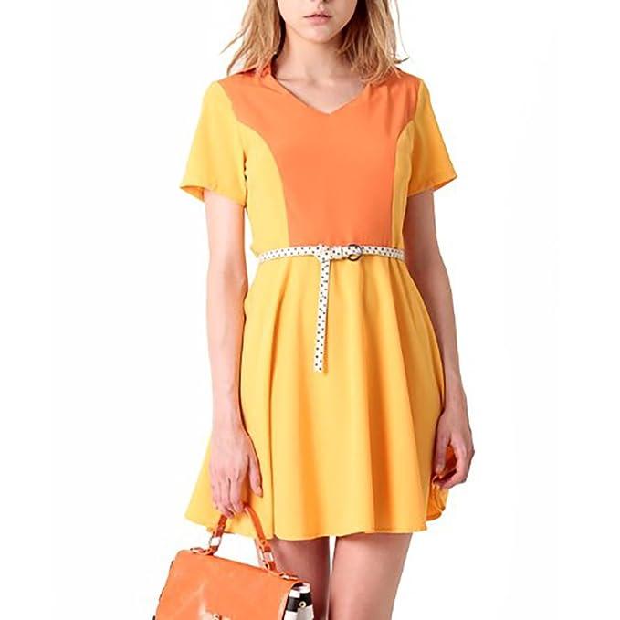 Kling vestido galansky Dress Mustard Mostaza 36/38