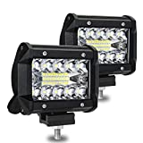 RoFay Led Light Bar, 2-Pack Aluminum Alloy Shell Led Spotlight Off Road Lights, 120W 12000lm Super Bright Flood Driving Fog Light for SUV Jeep Boat Home Road Warehouse