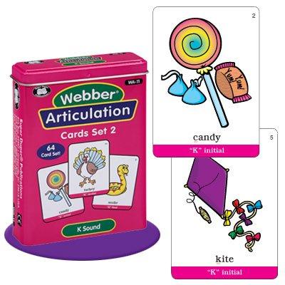 Super Duper Publications Webber Articulation K Sound Card Deck Educational Learning Resource for Children