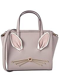Kate Spade Hop To It Bunny Mini Hayden Satchel Crossbody Bag - Neutral Gray