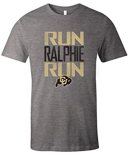Image One NCAA Colorado Buffaloes Adult Unisex NCAA Dotted Phrase Short sleeve Triblend (Sports Images Buffalo)