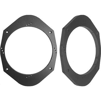"Speaker Adapter Spacer Rings SAK006_55 Universal 5x7 or 6x8 to 6 1/2"" 6.5 Speaker Adapter Spacer Rings - 1 Pair - SAK006_55: Car Electronics"