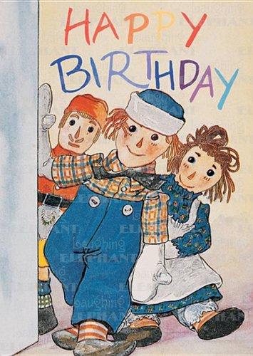 Raggedy Ann Andy Birthday - Raggedy Ann & Andy - Birthday Greeting Card