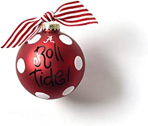 Coton Colors Alabama Dot Glass Ornament