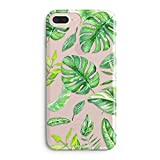 iPhone 6s Case,Clear Rubber Cover for iPhone 6 (4.7 Inch) -Cute Aloha Green Big Tropical Banana Bahama Leaves Summer Hawaii Case Pattern Soft Clear iPhone 6s Case