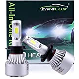 headlights for mazda rx8 - ZX2 H7 8000LM LED High Beam or Low Beam Headlight Conversion Kit,for Replacing Halogen Headlamp All-in-One Conversion Kits,COB Technology,6500K Xenon White,1 Pair with 1 Yr Warranty