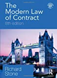The Modern Law of Contract : Eighth Edition, Stone, Richard, 0415481368