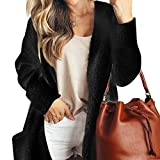 Lanyan Women's Casual Draped Open Front Oversized Pockets Hooded Coat Cardigan