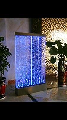 "72""x40"" XXL Bubble Fountain, Twin Bubble Panel, Color Lights/ Remote Ctrl By Jersey Home Decor"