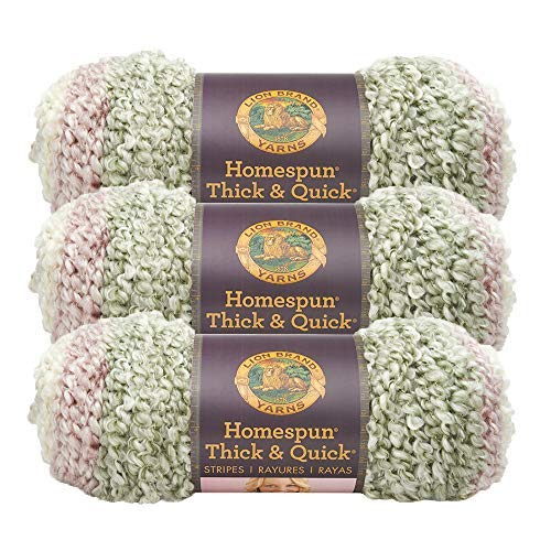(3 Pack) Lion Brand Yarn 792-213R Homespun Thick and Quick Yarn, Antique Stripes