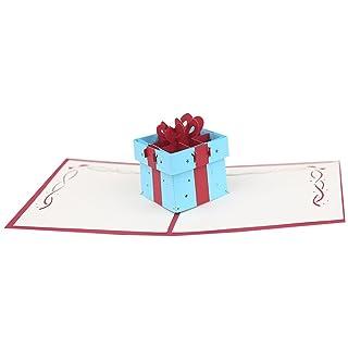 IRIS546RUTH 3D Pop Up card, migliore regalo di San Valentino a lui/lei–Fashion Handmade regalo di compleanno biglietto d' auguri Craft–blu, Carta, Red, Small