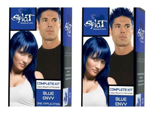 splat rebellious colors hair coloring kit blue envy set