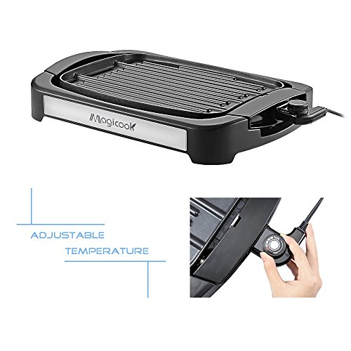 Electric Grill With Removable Plates ~ Magicook electric reversible grill griddle with removable