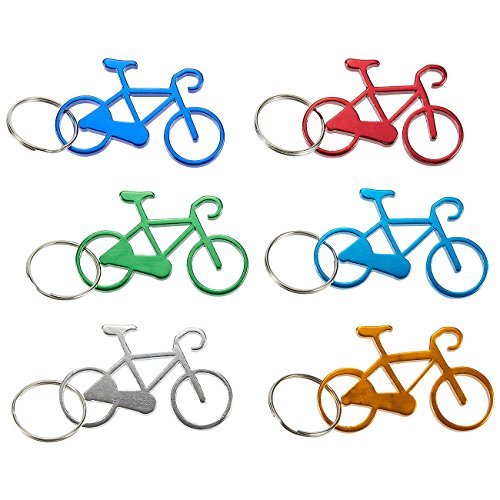 Lounge Bottle (Juvale Keychain Bottle Opener - 12-Pack Bicycle Bike Portable Beer Bottle Metal Openers for Wedding Party Favor in 6 Colors)