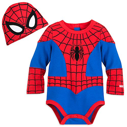 Marvel Spider-Man Costume Bodysuit for Baby Size 9-12 MO -
